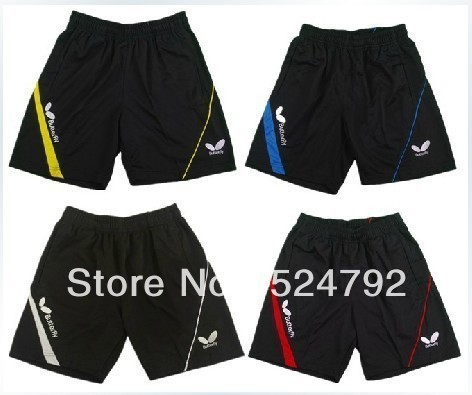 free shipping!2013 Butterfly men's table tennis clothing/badminton game Shorts new 4 colour(China (Mainland))