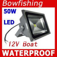 5Pcs High quality 50W LED Flood lights 12V bowfishing Boat lighting DHL shipping