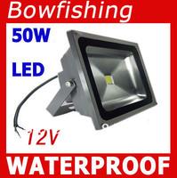 10Pcs High quality 50W LED Flood lights 12V bowfishing Boat lighting 5000LM waterproof IP65 DHL shipping