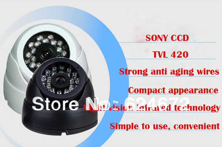 New!420TVL Sony CCD CCTV Varifocal lens Dome camera 2.8-12mm lens IR Camera,+ Free shipment(China (Mainland))