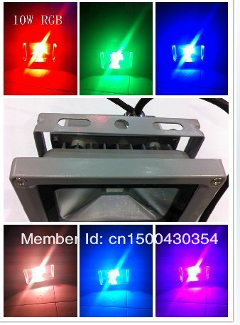 Wholesale 50pcs/lot 10W RGB LED Wash Floodlight Outdoor Lamp+remote controller +2m plug line for Christmas Factory sale !!(China (Mainland))