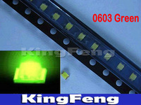 Free shipping (4000pieces/lot) 0603 SMD Jade Green Super Bright  LED