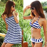 Piece set swimwear split women's swimwear hot spring swimwear 11066