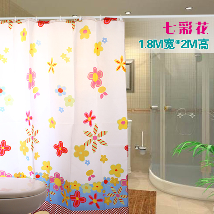 Home textile high quality silks and satins waterproof thickening shower curtain 170 200(China (Mainland))