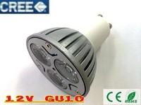 12V AC/DC Dimmable 3W 9W LED GU10 High Power spotlight down light Lighting lamp White warm Green Yellow Red LS49