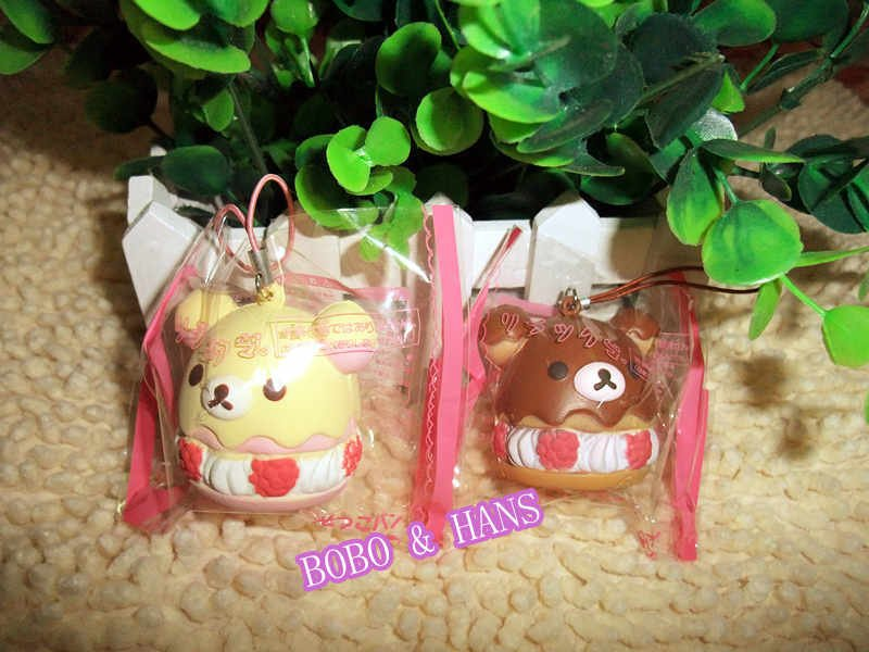 new arrivalhot selling itemsFree Shipping/New Cute rilakkuma bear cream cake squishy charm / mobile phone strap Pendant / Wholes(China (Mainland))