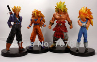 "New  6.5"" Super saiyan 3 Goku  Dragon Ball Z GT Action figure Japanese Anime figure Toys 16.5CM PVC 4PCS/SET Free Shipping"