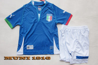 Italy home children jersey 2013/14, thai quality kids soccer football jersey+shorts kits,size:16-28, (original brand & tags)