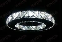20cm Modern LED Round Crystal Pendant Lamp Diamond Ring Ceiling Light Lighting free shipping