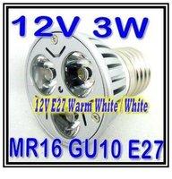 Cool White Or Warm White LED 3W SPOTLIGHT High Power LED spot light lamp lighting AC/DC 12 BULB LAMPS