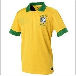 ^_^ wholesales brazil home yellow soccer jerseys soccer uniform THAIland top quality + free shipping(China (Mainland))