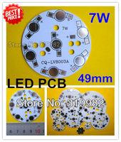 30pcs/lot, 7W LED PCB, 49mm for 7pcs LEDs, aluminum plate base, Aluminum PCB, Printed Circuit Boards, high power 7W LED DIY PCB