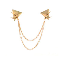 Wholesale Fashion Unique gold swallow alloy collar women brooches  Free shipping Min.order $10 mix order+gift