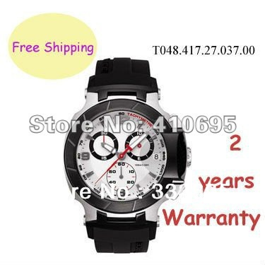 New T048 Watch T-Race Men Chronograph White DIal Wristwatch T048.417.27.037.00 + Original Box(China (Mainland))