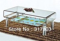 stainless steel foot, glass tea tables, sidetable, table, livingroom furniture,coffee table, color glass painting 210