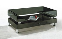 stainless steel foot, glass tea tables with drawer, sidetable, table, livingroom furniture,coffee table,color glass painting 220