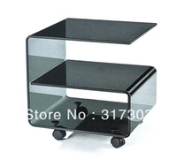small table beside sofa, glass tea tables with wheel, stool livingroom furniture,coffee table,color glass paintingA17