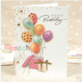 12.5 x 17cm, Pretty greeting cards with envelope, Birthday cards,Handmade card, MIX desgins, Wholesale ( ss-5978)