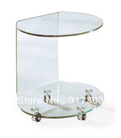 small table beside sofa, glass tea tables with wheel, stool livingroom furniture,coffee table,color glass painting607