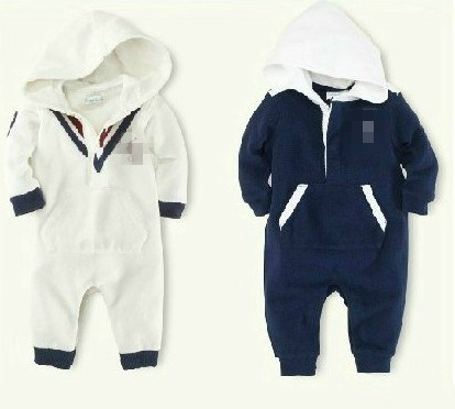 new brand name clothing cute baby boys hooded polo clothes infant soft