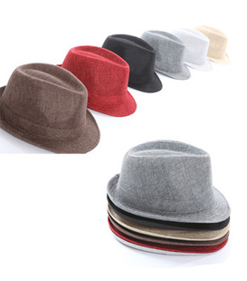 Fashion male fedoras linen cowboy hat male hat sunbonnet men's HHA0014(China (Mainland))