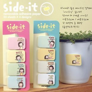 Free shipping 2204 korea stationery biscuits girl sticky small notes n times stickers(China (Mainland))