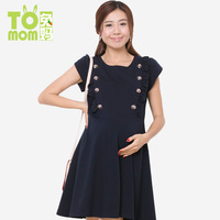Maternity clothing spring summer one-piece dress summer maternity dress 100% cotton 8114