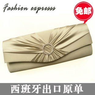 Fashion rhinestone bag evening bag chain day clutch bag small women's handbag fashion long design bridesmaid bridal bag(China (Mainland))