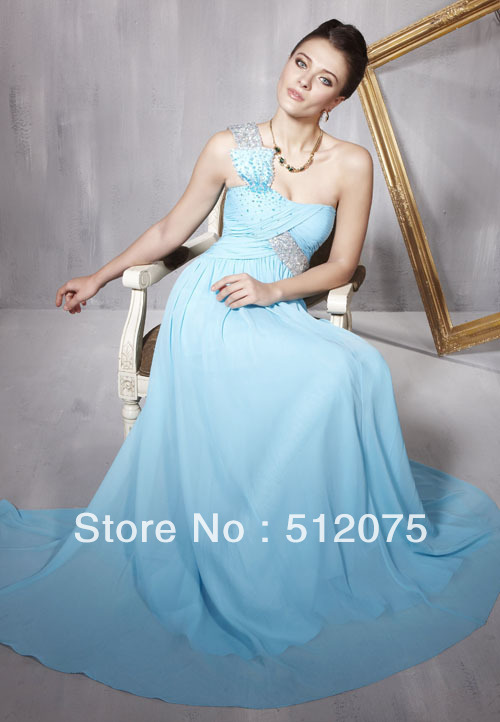 Discount Graduation Dresses 2013 Ice Blue Beading sexy western wear Free Shipping(China (Mainland))