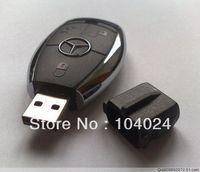 Fast ship 4gb 8gb 16gb 32gb black benz car key USB 2.0 flash drive memory pen disk