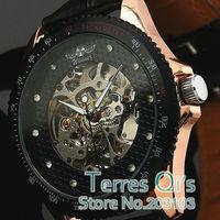 WINNER  Luxury Skeleton Men Auto Mechanical Watches Wristwatch SG/HK Post