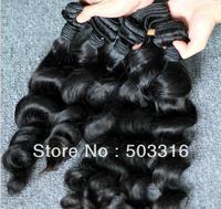 queen products WQ1305356 body wave hair 4 pcs peruvian virgin hair weave