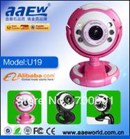 webcamU19,driverless webcam,classic design with six LED lights, hot sale
