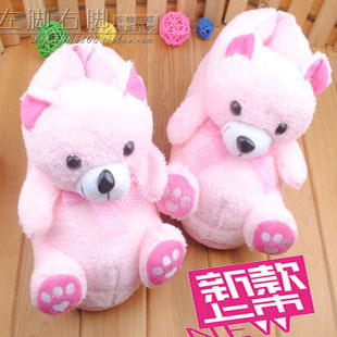 Female cartoon foreign trade cotton slippers package with three-dimensional plush winter home warm cotton-padded shoes fashion d(China (Mainland))