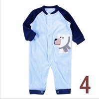 1 piece Free Shipping  Carters jumpsuit  Polar Fleece Long Sleeves Rompers for Baby Boys 3M 6M 9M 12M
