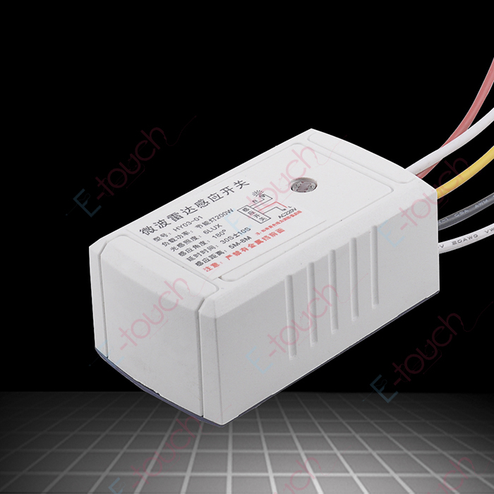 Free shipping High sensitive 220V~240V AC microwave motion sensor switch high quality low price(China (Mainland))