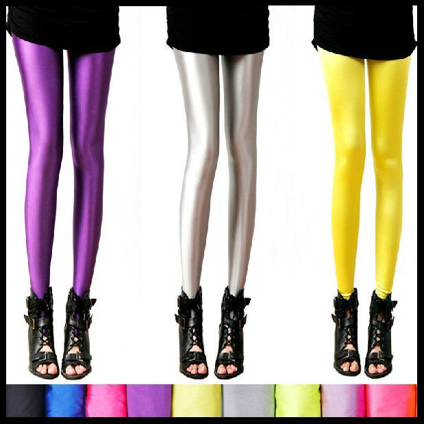 2013 stocking plus size tights fashion candy color neon color leggings women's slim high stretched yoga pants free shipping(China (Mainland))