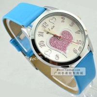 Love shaped digital student table women's table the trend of fashion unisex casual strap watch