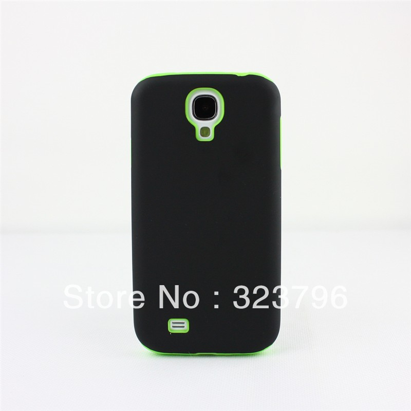 Hot 300pcs /lot PC+silicone Case for Samsung Galaxy S4 i9500 New Arrival(China (Mainland))