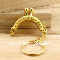 20pcs High Quality 4 CM mini Golden tone Metal Purse Frame handle Completed Holes wholesale ,Freeshipping