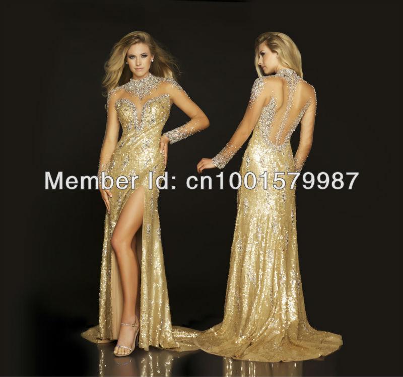 2013-New-Arr... Beautiful Gold Prom Dresses 2013