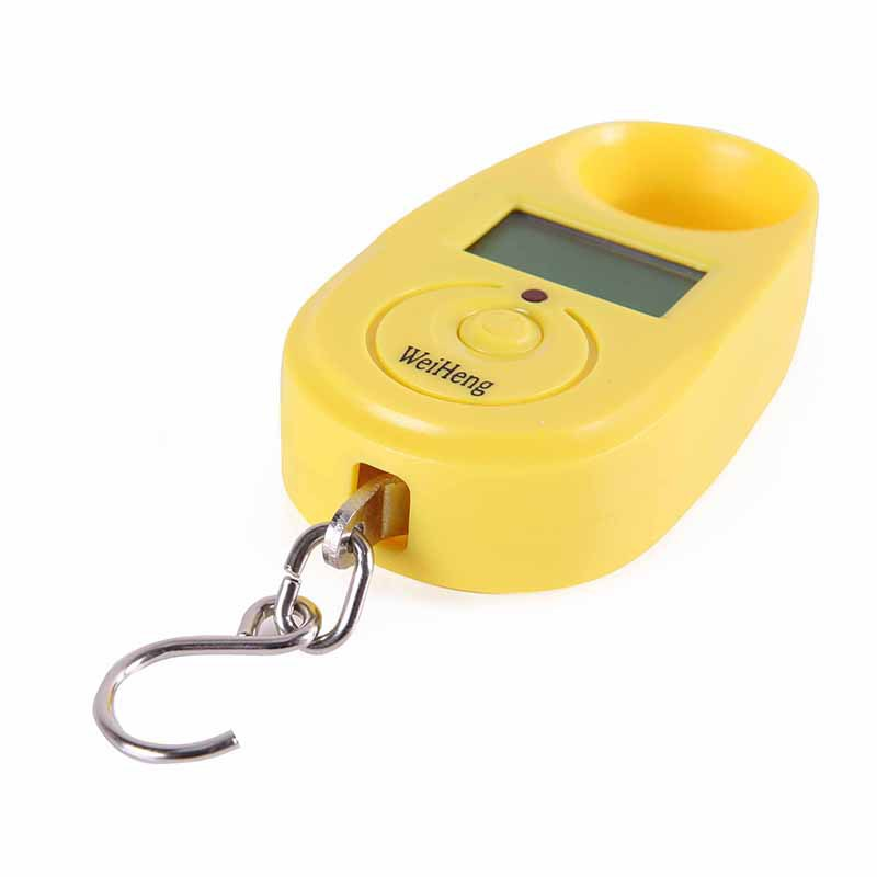 5g to 15kg Electronic Portable Mini Crane Digital Scale Kg Charger yellow(China (Mainland))