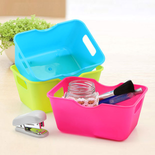 Mini desktop 68 rectangle storage box plastic cosmetics sundries box finishing box(China (Mainland))
