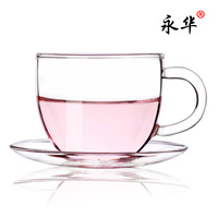 Yonghua glass tea set flower tea cup transparent glass tea cup coffee cup 100ml