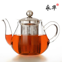 Yonghua glass herbal tea stainless steel colander liner glass pot flower pot tea pot