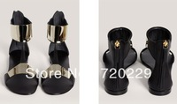 European and American fashion. The cyanine cyanine VC show GZ outside the single sheet metal flat sandals