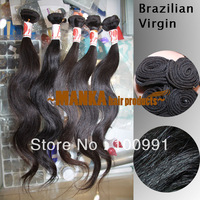 "10""-30"" 40g 5A Brazilian Virgin Human Hair Weave Double Weft Hair Extensions Natural Color Free shipping EUB"
