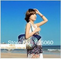 Free shipping 2013 vivi hand-made bohemia one shoulder straw bag beach dress handbag