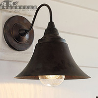 American style wall lamp brief modern classic wall lamp reminisced iron wall lamp