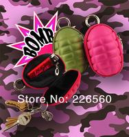 Free shipping 2pcs/lot Grenade Key Case / Grenade Coin Case / Grenade Coin Purse